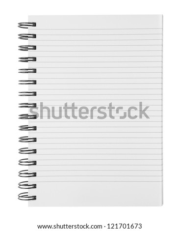Blank ring binder - stock photo