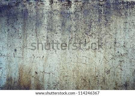 Blank rusty metal wall - stock photo