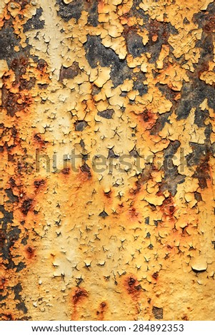 Blank rusty rough surface as background in closeup - stock photo