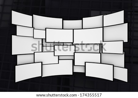 Blank screens - stock photo