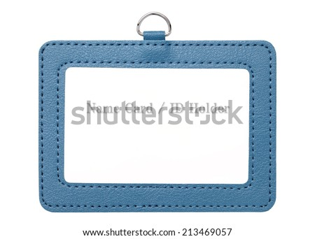 Blank security badge isolated on white background - stock photo