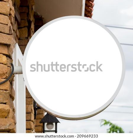 blank sign board - stock photo