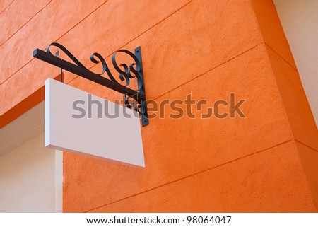 blank sign board - stock photo