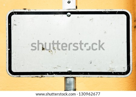 blank sign - nice background with space for text - stock photo
