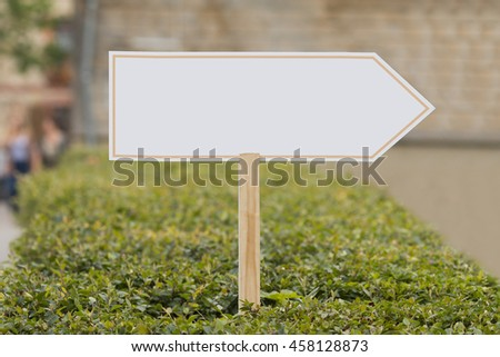 blank signpost - stock photo