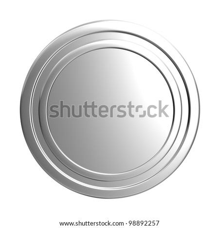 blank silver coin - stock photo