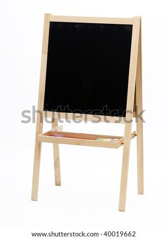 Blank slate, chalkboard isolated on the white background - stock photo