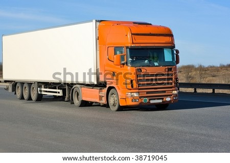 Blank space truck - stock photo