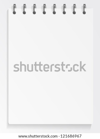 Blank spiral notepad, jpeg version - stock photo