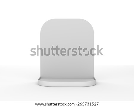 blank stand or display mockup for products isolated on white - stock photo