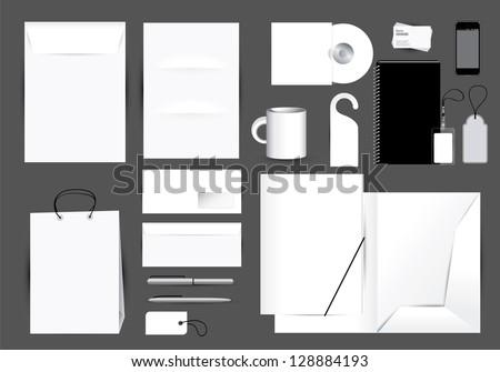 Blank stationery design set. Editable vector format in portfolio. - stock photo