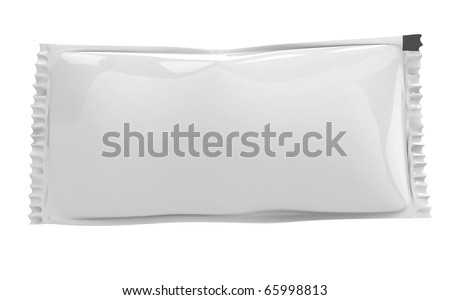 blank stick pack suitable for placing logo or text - stock photo