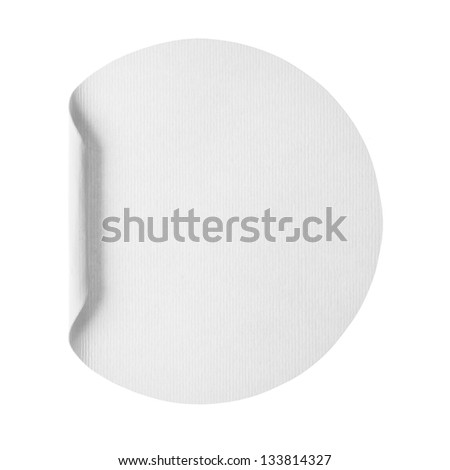 Blank sticker - stock photo