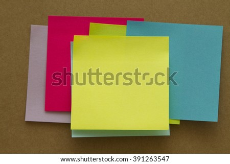 Blank Sticky Notes. Write your message. - stock photo