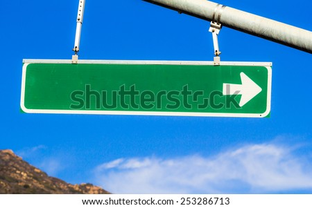 Blank Street Sign. A blank street sign without anything printed on it. - stock photo