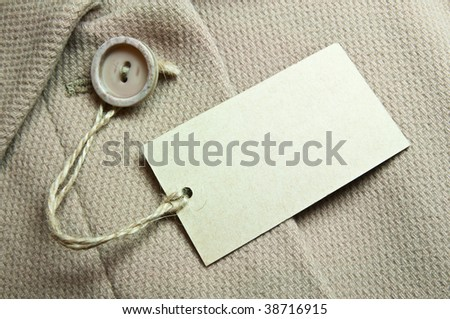 Blank Tag - stock photo