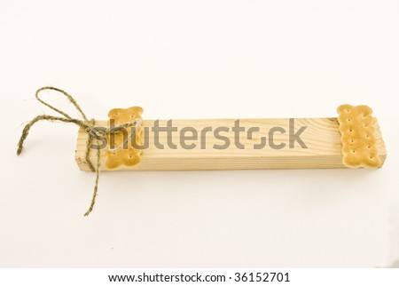 blank tag with bow - stock photo