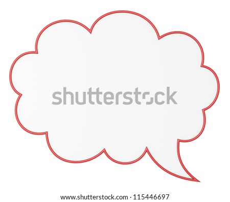 Blank talk bubble, 3d image with work-path - stock photo
