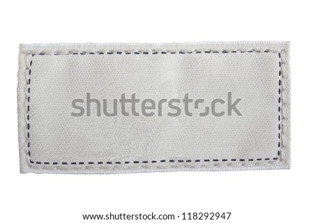 Blank textured label. Fragment of texture with pure label for your text. - stock photo