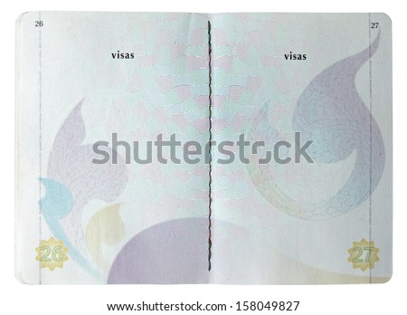 Blank Thai passport isolated on white background - stock photo