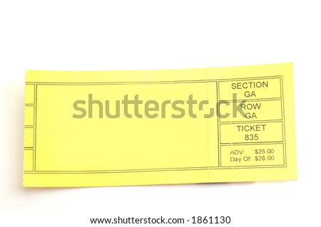 blank ticket stub - stock photo