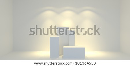 blank trade show booth 4 - stock photo
