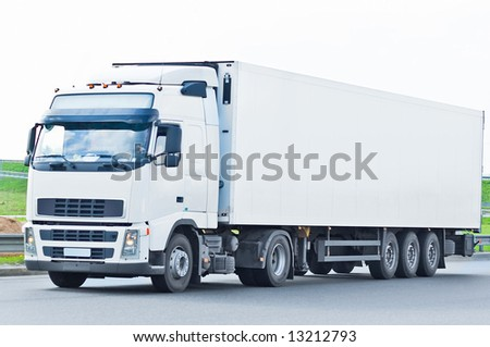 "blank truck  - See similar images of this ""Business vehicles"" series in my portfolio - stock photo"