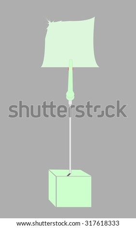 blank turquoise paper clamp by turquoise cube alligator wire  - stock photo