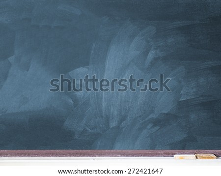 blank used chalkboard on the classroom, copy space ready to fill text - stock photo
