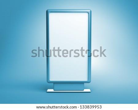 blank vertical billboard - stock photo