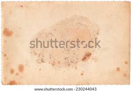Blank Vintage Photo Paper Background, Visible Age Marks - stock photo