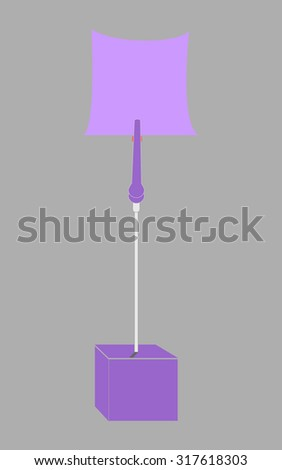 blank violet paper clamp by violet cube alligator wire  - stock photo