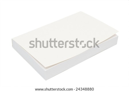Blank white bookcover - stock photo