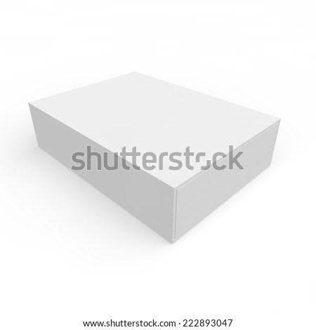 Blank white box of matches and other items - stock photo