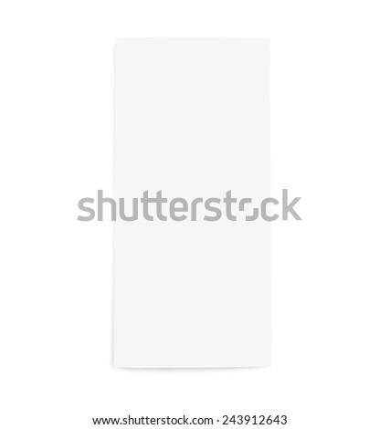 Blank white Brochure paper on white background - stock photo