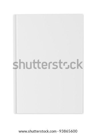 blank white cover of  book isolated on white - stock photo