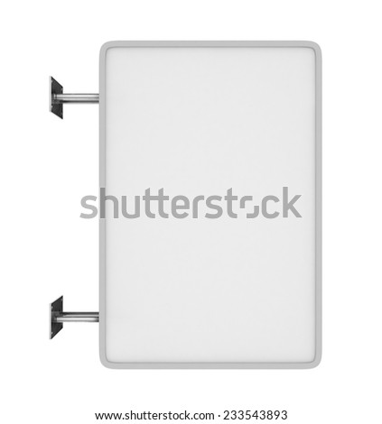 Blank white marker board for business presentations or teaching - stock photo