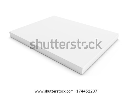 blank white packaging as a 3d render - stock photo