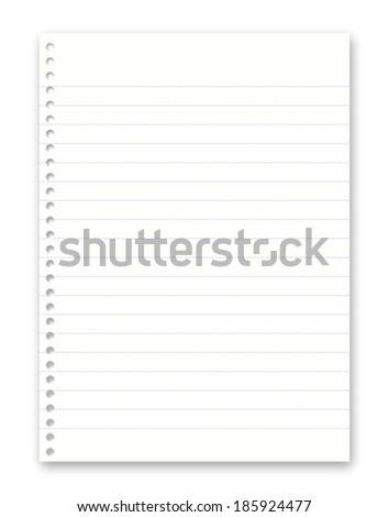 Blank white paper - stock photo