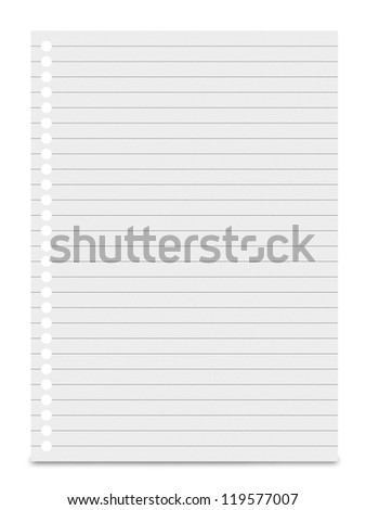 Blank white paper isolated on white background. - stock photo