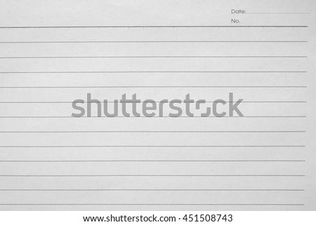 Blank white paper lined - stock photo