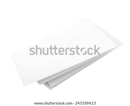 blank white paper on white background - stock photo