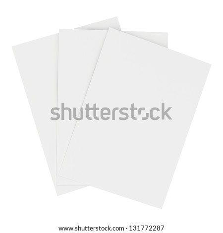 blank white sheets of paper - stock photo
