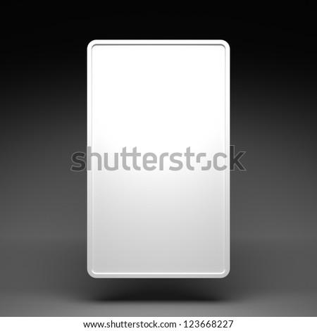 Blank White Vertical Billboard on a Dark Grey Background - stock photo