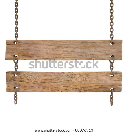 Blank Hanging Sign Board Blank Wooden Sign Hanging on a