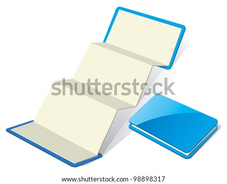 Blank Z-Card Design Template. Rasterized Version - stock photo