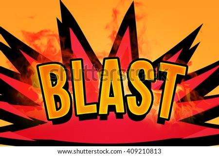 Blast Comic Speech Bubble - stock photo