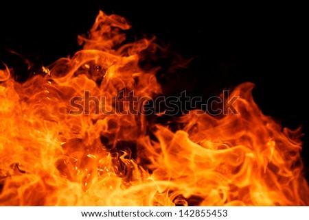 blaze fire flame texture background - stock photo