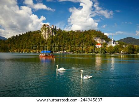 Bled lake. Slovenia - stock photo