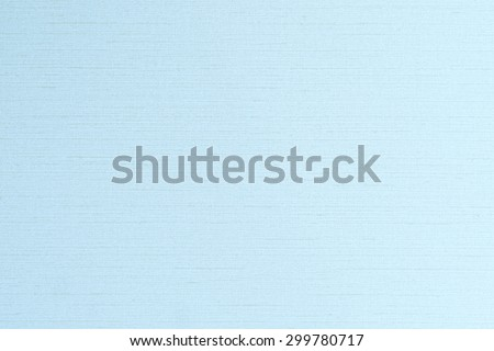 Blended cotton silk fabric textile wallpaper detailed texture pattern background in sweet light pale blue color tone  - stock photo